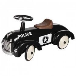 Jeździk wyścigowy czarny Policja