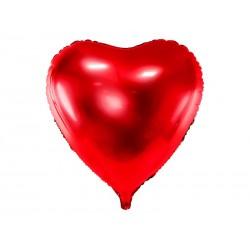 Balon foliowy Serce, 72x73cm, czerwony (1 karton / 50 szt.)
