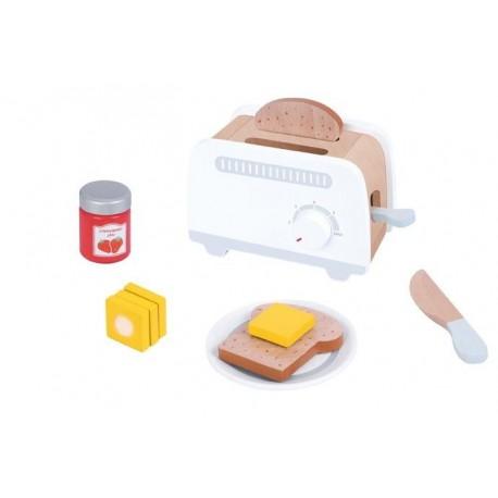 Drewniany toster szary zabawka dla dziecka