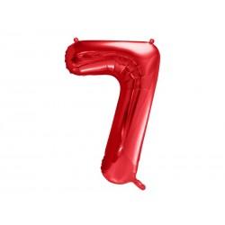 Balon foliowy Cyfra ''7'', 86cm, czerwony