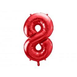 Balon foliowy Cyfra ''8'', 86cm, czerwony
