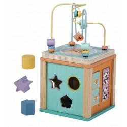 Zabawka drewniana kostka edukacyjna