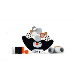 Balansujący Pingwinek - drewniana gra zręcznościowa