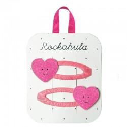 Rockahula Kids - 2 spinki do włosów Happy Heart
