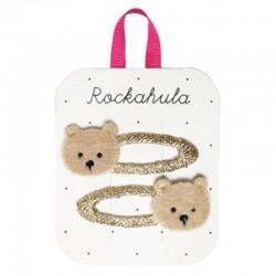 Rockahula Kids - 2 spinki do włosów Teddy Bear