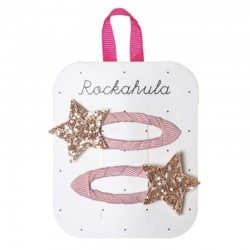Rockahula Kids - 2 spinki do włosów Stardust Glitter Pink