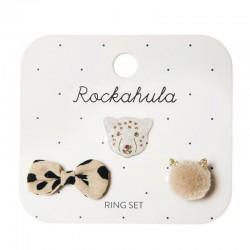 Rockahula Kids - 3 pierścionki Lily Leopard
