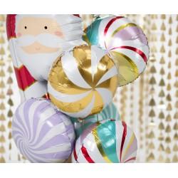 Balon foliowy Cukierek, 35cm, złoty
