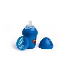 Herobility - butelka antykolkowa HeroBottle 140 ml, Superman + smoczek S (0 m+)
