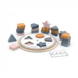 Drewniana układanka do sortowania kształtów i kolorów