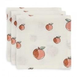 Jollein - 3 pieluszki niemowlęce Hydrophlic Face 31 x 31 cm Peach