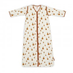 Jollein - Śpiworek niemowlęcy całoroczny 4 pory roku z odpinanymi rękawami Pear 70 cm