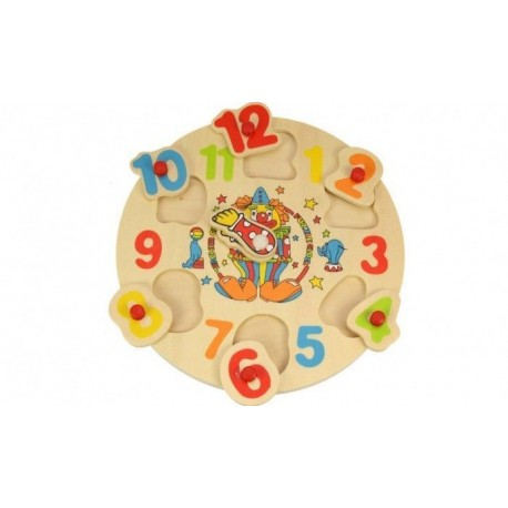 Zegar do nauki godzin Wesoły Klaun