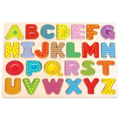 Puzzle układanka alfabet - duże litery