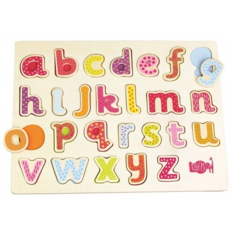 Puzzle układanka alfabet - małe litery