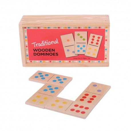 Domino tradycyjne - w drewnianym pudełku