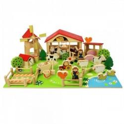 Drewniany zestaw do układania i zabawy Farma