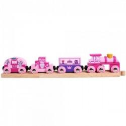 Pociąg Księżniczki - drewniana kolejka dla dziewczynki