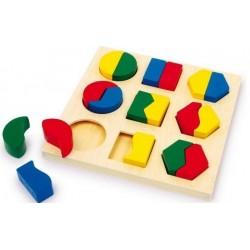 Puzzle geometryczne KSZTAŁTY I KOLORY