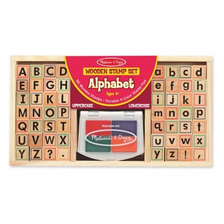 Zestaw stempelków alfabet