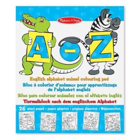 Ogromne kolorowanki do nauki angielskiego alfabetu