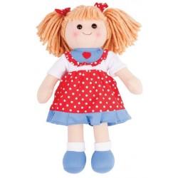 Duża lalka szmaciana Emilka 35cm