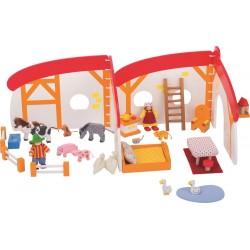 Domek dla lalek mobilna farma otwierana
