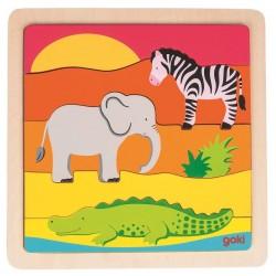 Puzzle horyzontalne Afryka