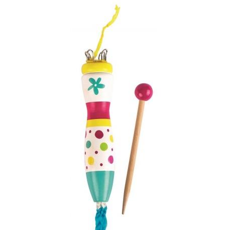 Laleczka dziewiarska Susibelle - szydełko French knitting