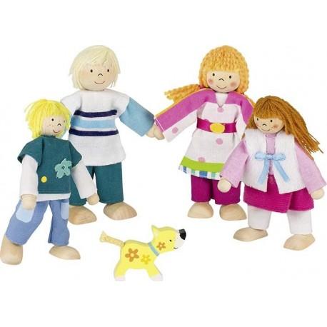 GOKI Rodzina Susibelle - drewniane lalki do domku