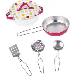 Zestaw kucharski dla dzieci - garnki i łyżki