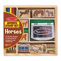Zestaw stempelków Konie