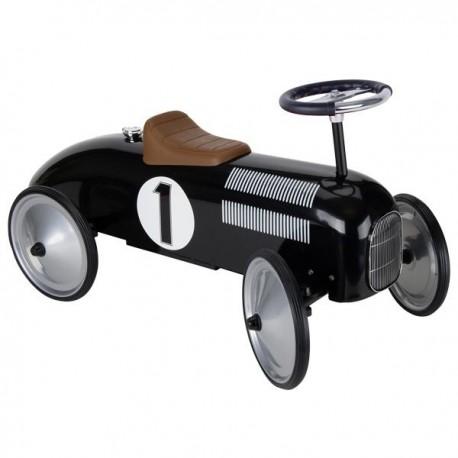Jeździk wyścigowy czarny retro