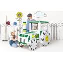 Traktor z kartonu DUŻY do zabawy i malowania