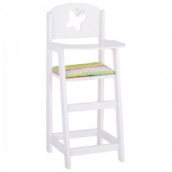 Drewniane krzesło dla lalek wysokie