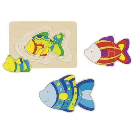 Układanka warstwowa rybki
