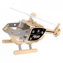 Motoskładak drewniany helikopter policyjny