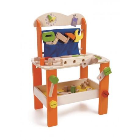 Warsztat drewniany dla chłopca - 37 elementów