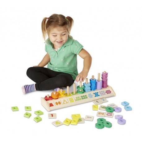 Układanka nauka liczenia kształty i kolory