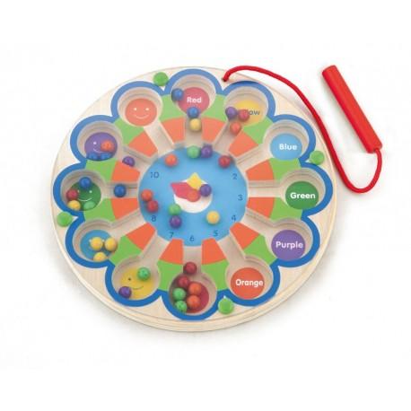 Magnetyczny zegar labirynt do nauki