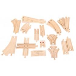 Zestaw drewnianych torów - 25 szt.