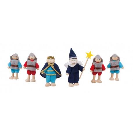 Lalki drewniane Rycerska drużyna