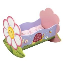 Kołyska dla lalek Magiczny ogród + poduszka i kołderka