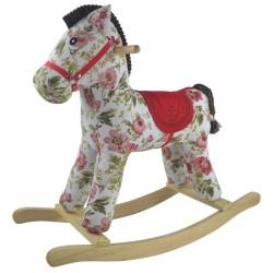 Konik na biegunach interaktywny Pinky Flora dźwięk koń w kwiaty