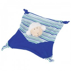 Przytulanka dla dziecka niebieska owieczka
