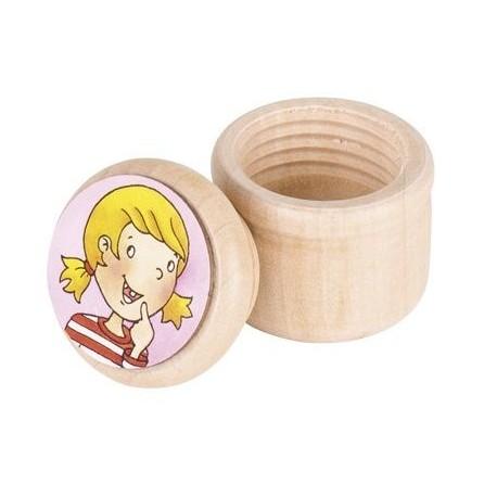 Pudełko na mleczaki drewniane pojemnik na wypadające ząbki DZIEWCZYNKA