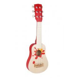 Gitara drewniana z gwiazdą