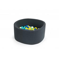 Suchy basen dla dzieci z piłeczkami 90x30 okrągły - grafitowy