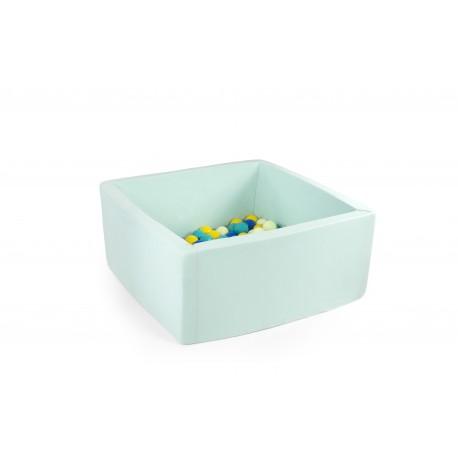 Suchy basen z piłeczkami 90x40x40 - miętowy 300 piłeczek