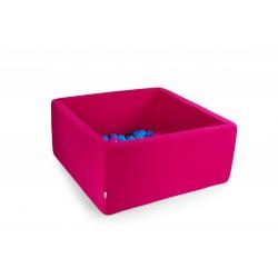 Suchy basen dla dzieci z piłeczkami 90x90x40 kwadratowy - róż 300 piłeczek